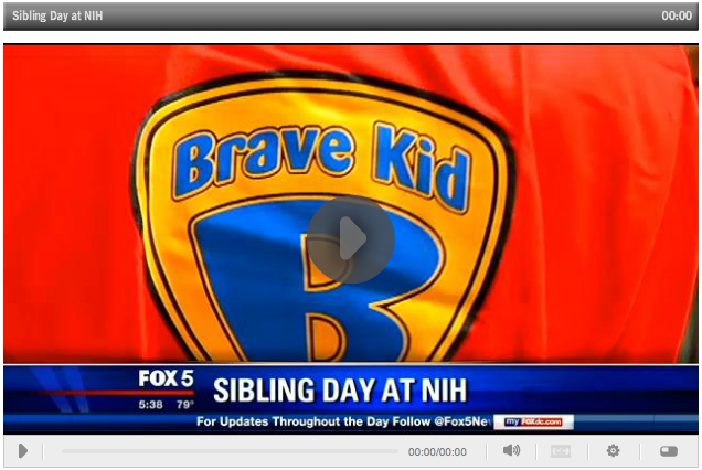 Still video image of Sibling Day on Fox 5 News