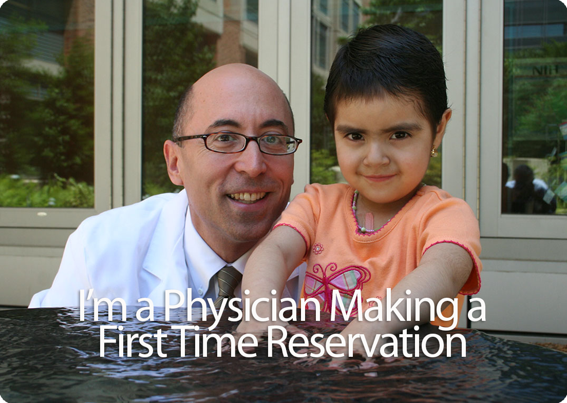 I'm a physician making a first visit reservation