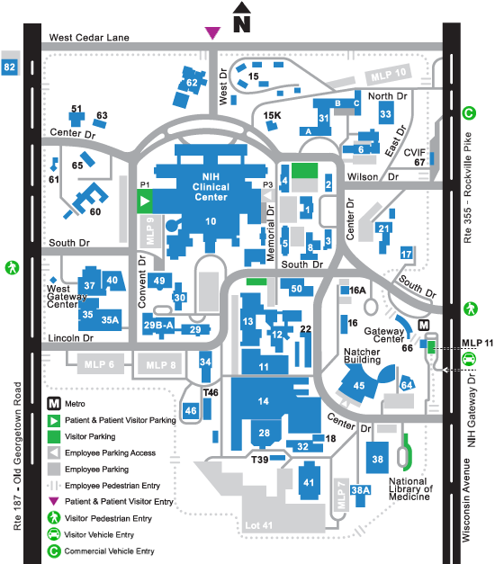 Nih Visitor Map Directions to The Inn | The Children's Inn at NIH
