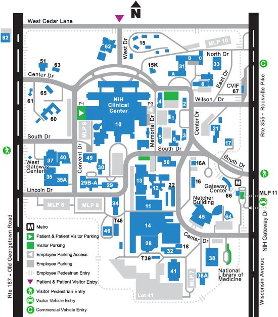 NIH Visitor Map
