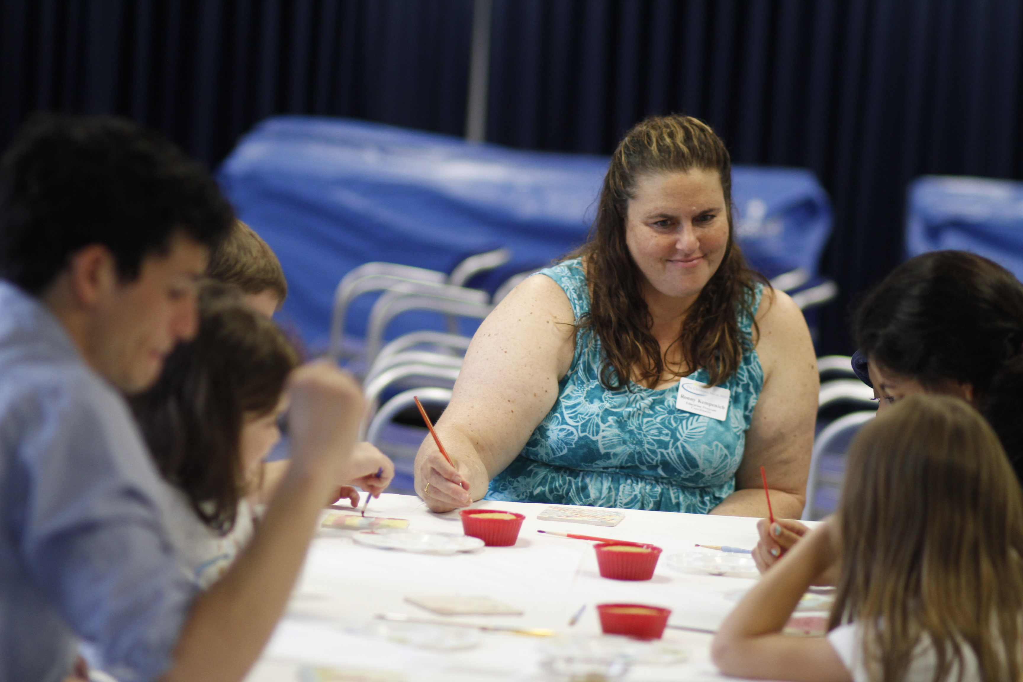 Ronny teacher arts and crafts at The Children's Inn summer camp