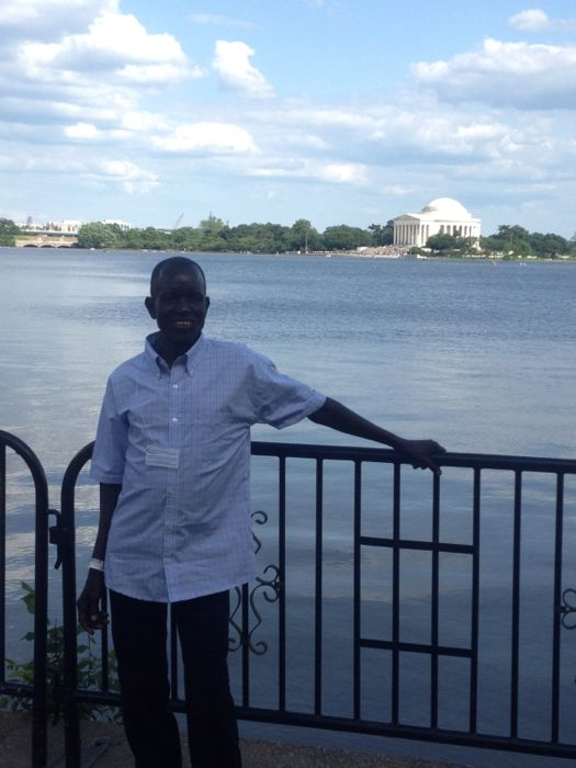 Ugandan Father at Jefferson Memorial