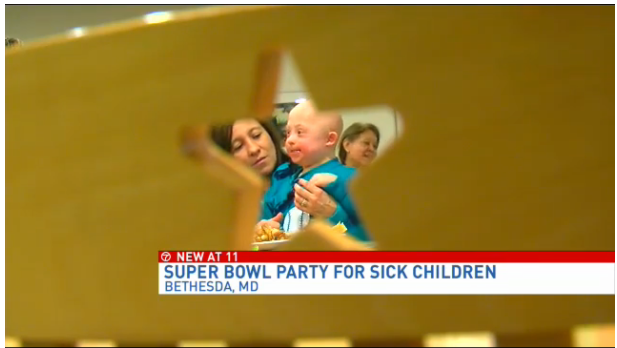 Super Bowl party at The Children's Inn