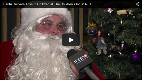 Santa visits The Children's Inn