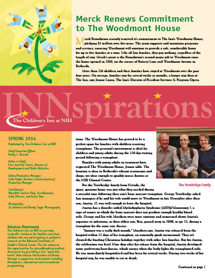 The Children's Inn at NIH 2014 Spring Newsletter