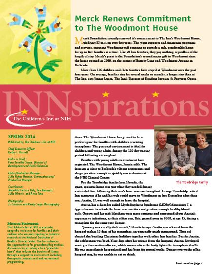 The Children's Inn at NIH 2014 Spring Newsletter