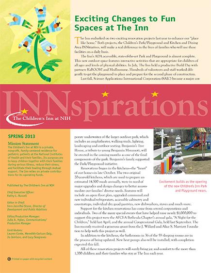 The Children's Inn at NIH 2013 Spring Newsletter