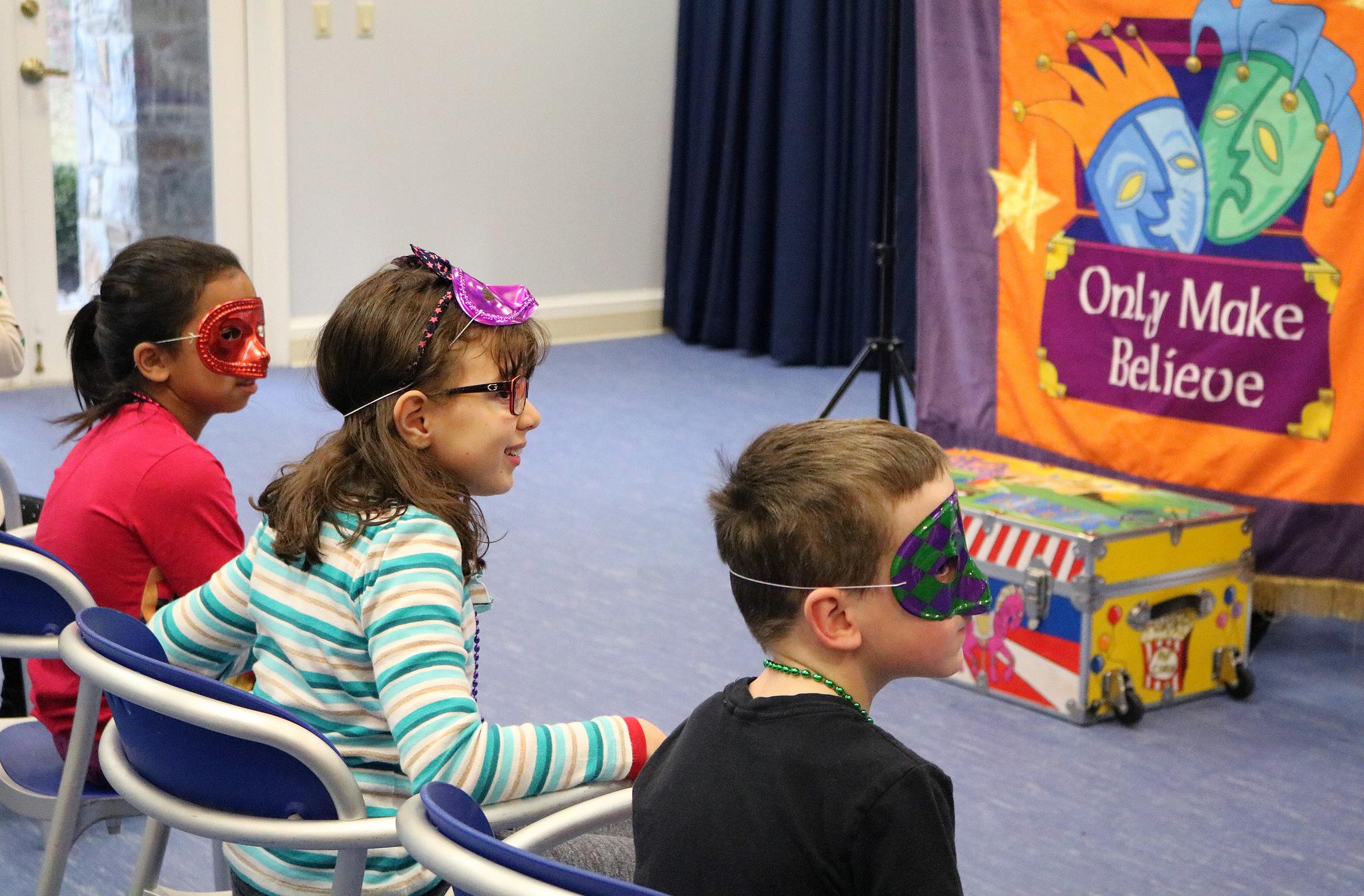Only Make Believe interactive theater entertains children