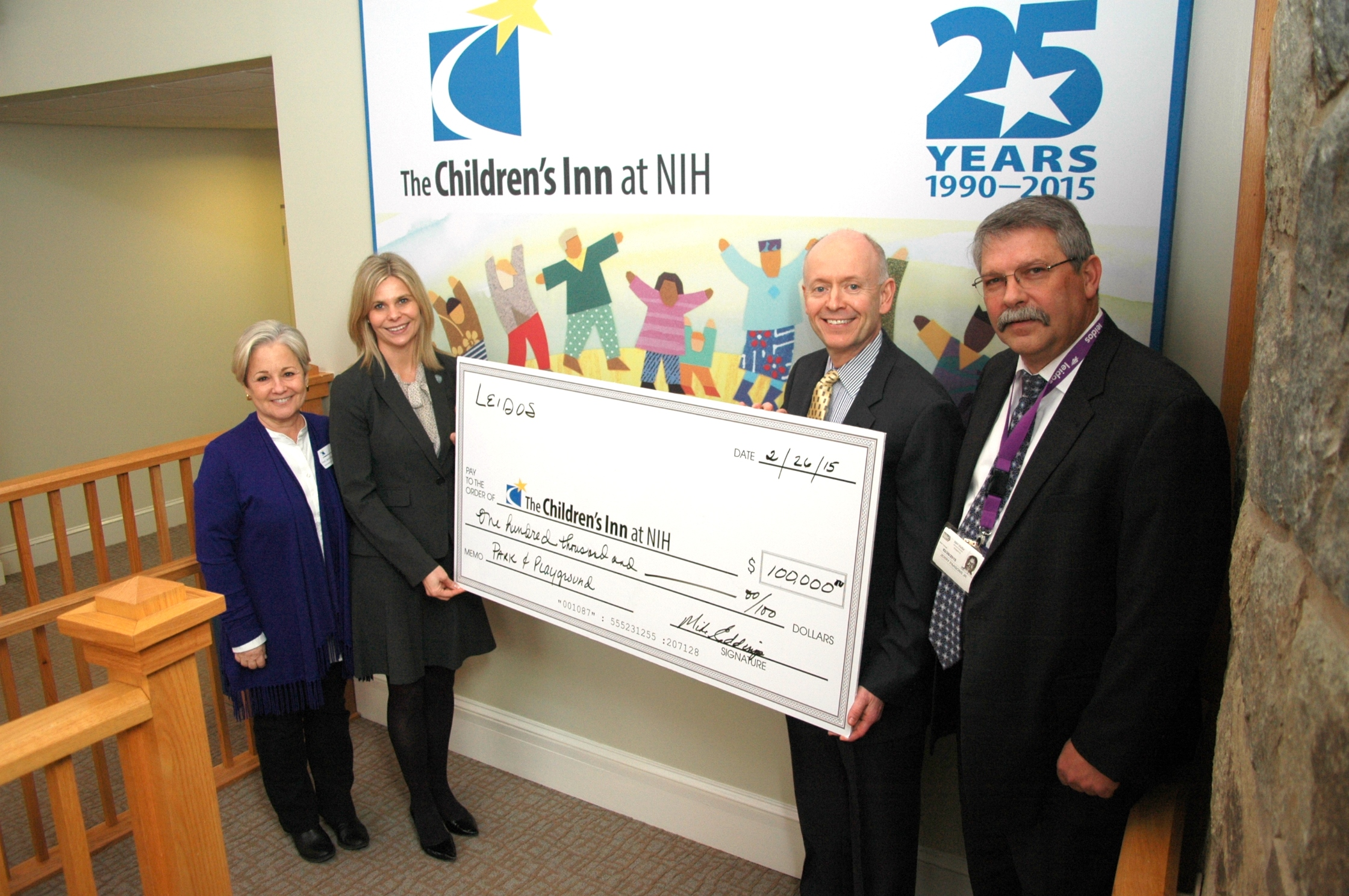 Leidos donates $100,000 to The Children's Inn at NIH