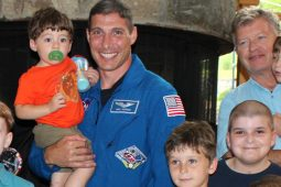 NASA's Astronaut Mike Hopkins with Children at The Inn