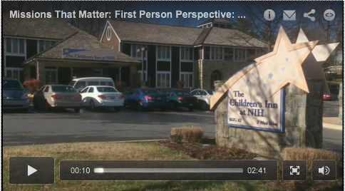 Still shot of Booz Allen video about The Children's Inn volunteer, Sandy Davis