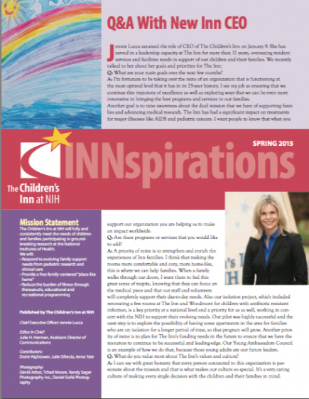 The Children's Inn Spring Newsletter 2015