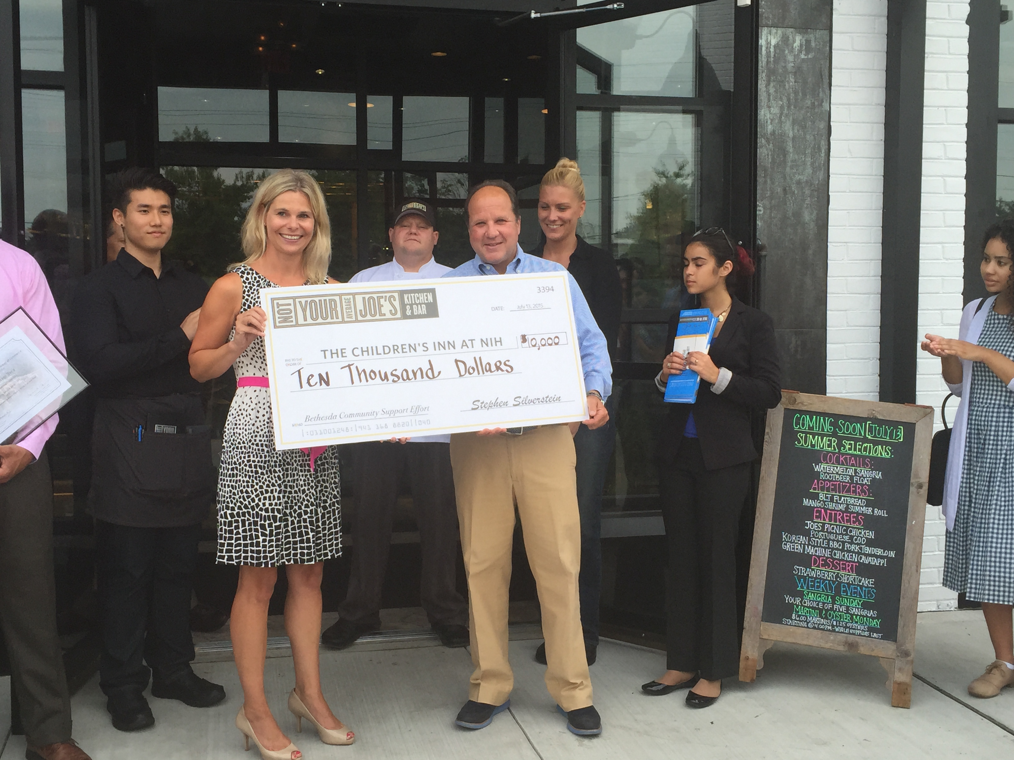Not Your Average Joes Bethesda Check presentation
