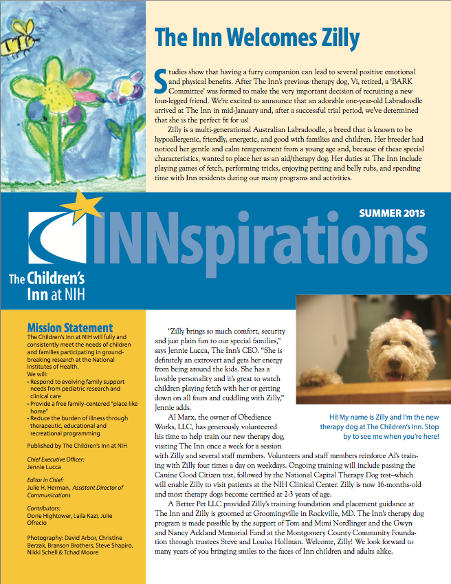 The Children's Inn 2015 Summer Newsletter