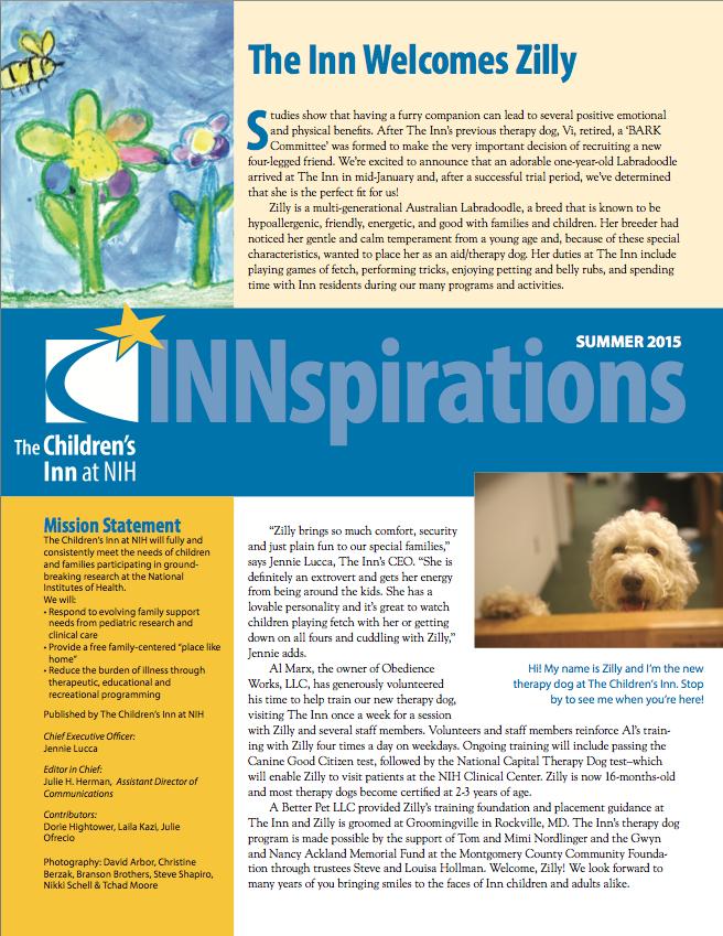 The Children's Inn 2015 Summer Newsletter