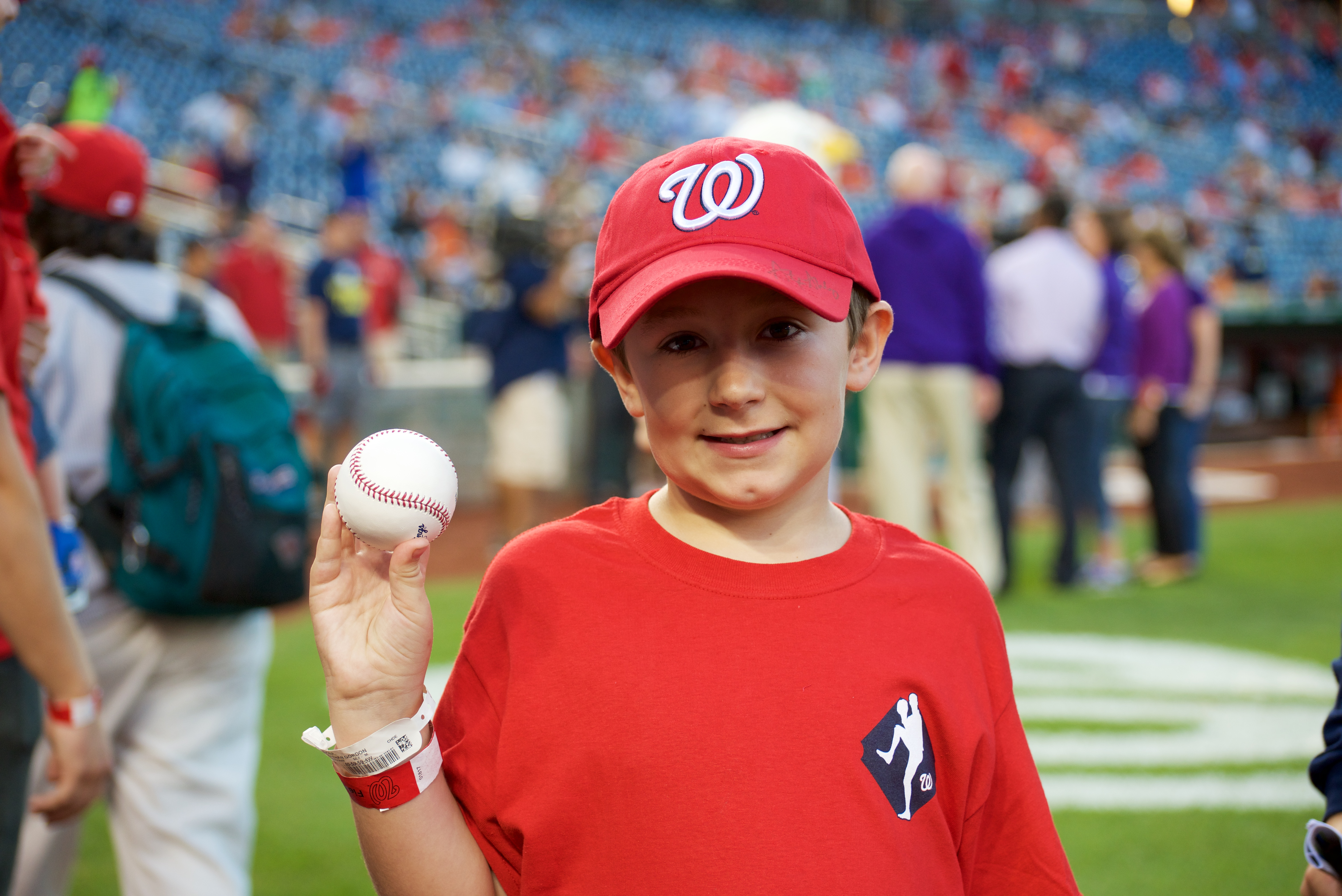 Jonathan was invited to throw the first pitch at a Nationals game.