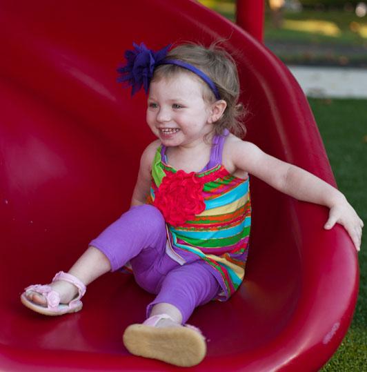 Kamryn on a slide