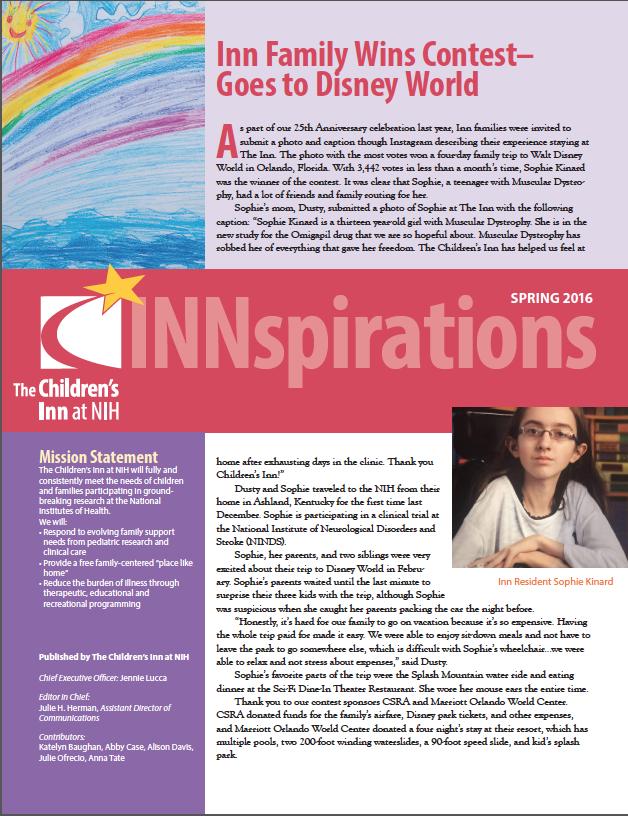 Spring newsletter 2016