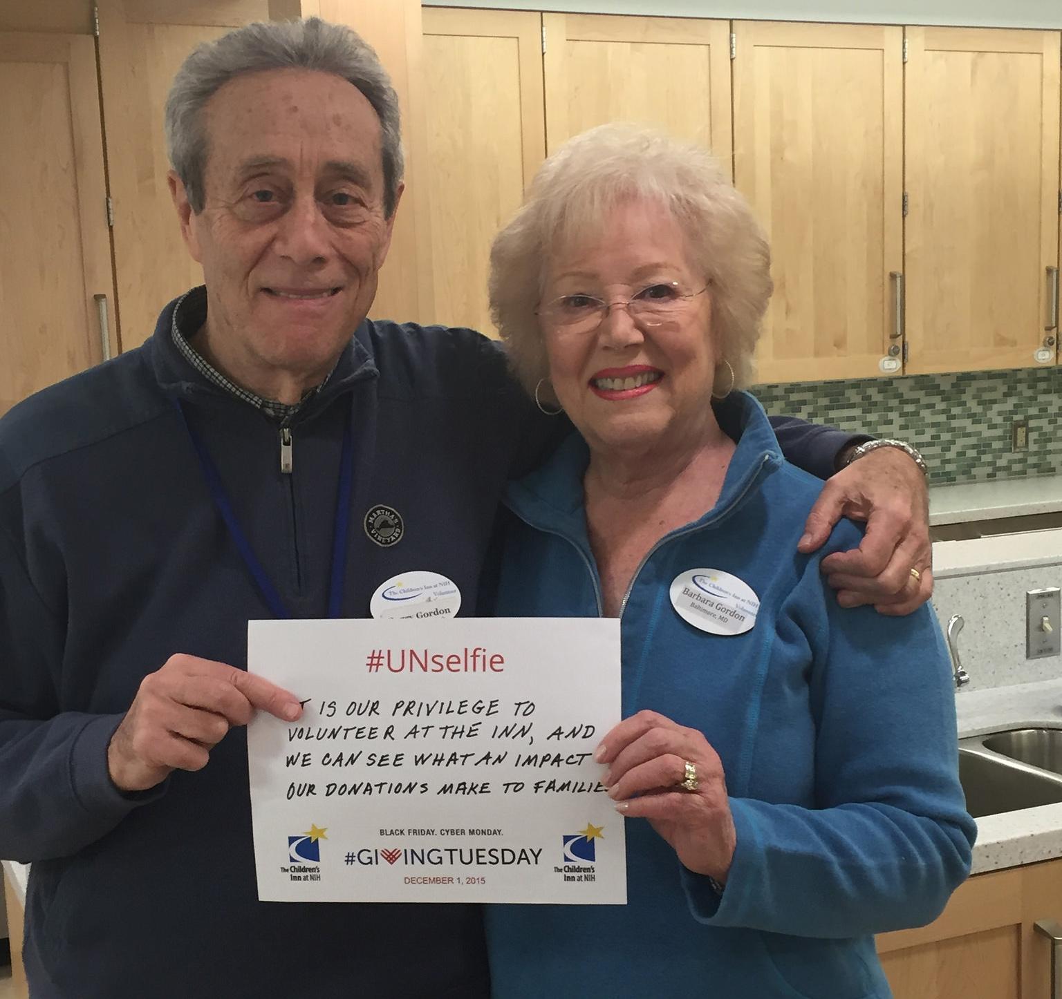 Barbara and Barry Gordon The Children's Inn Volunteers