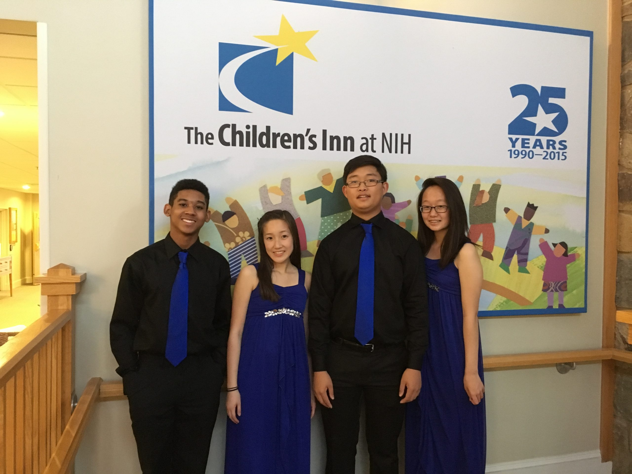 Pictured here are members Spencer Tate, 17, Natalie Hsieh, 15, Phillip Lee, 15, and Katherine Kim, 15.