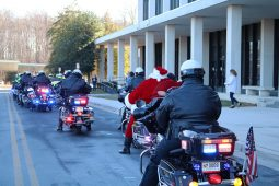 MCPD Police Department motorcade with Santa Clause