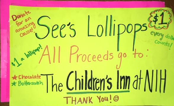Lollipop poster to raise money for The Children