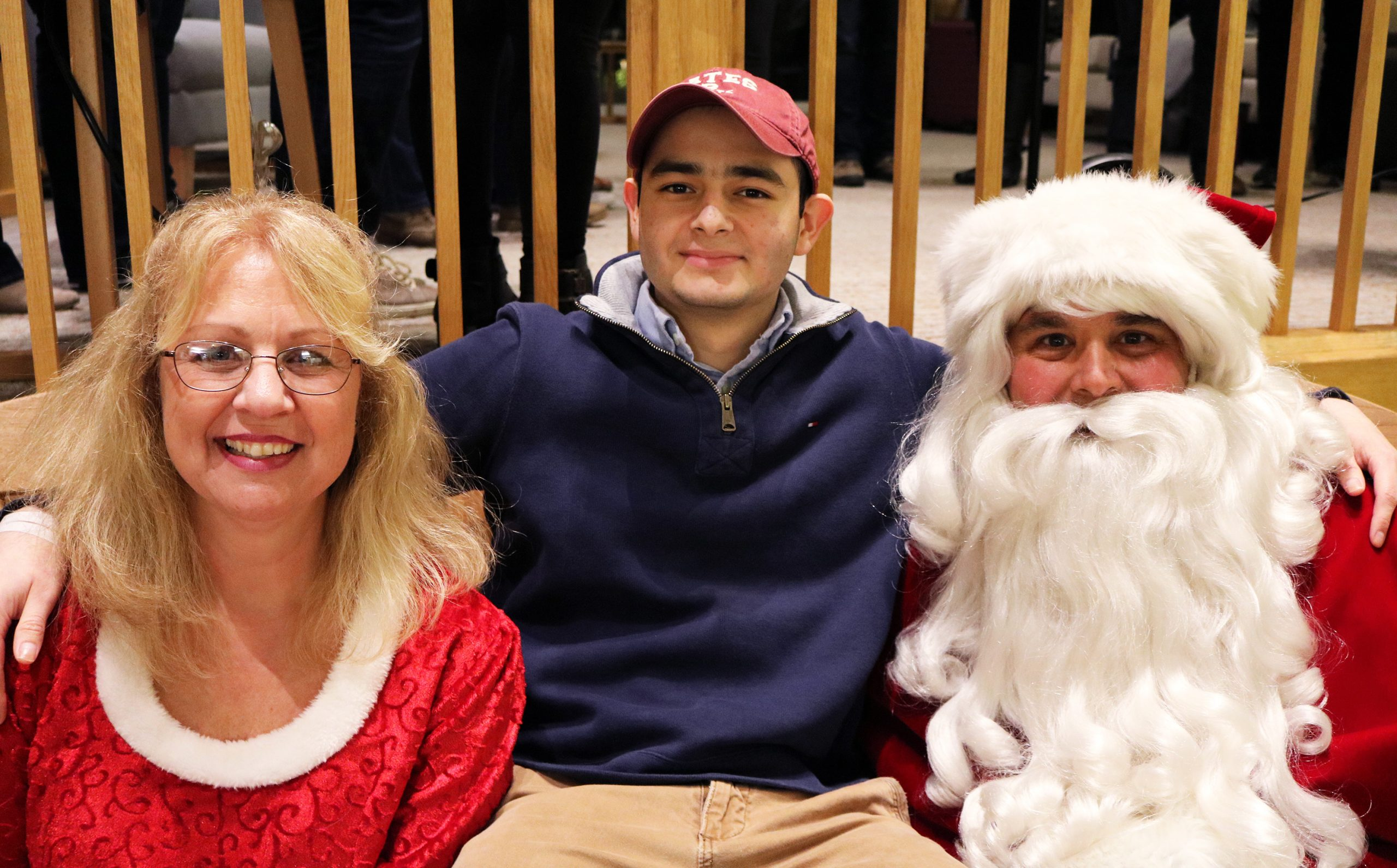 Andreas with Santa Clause and Mrs. Clause