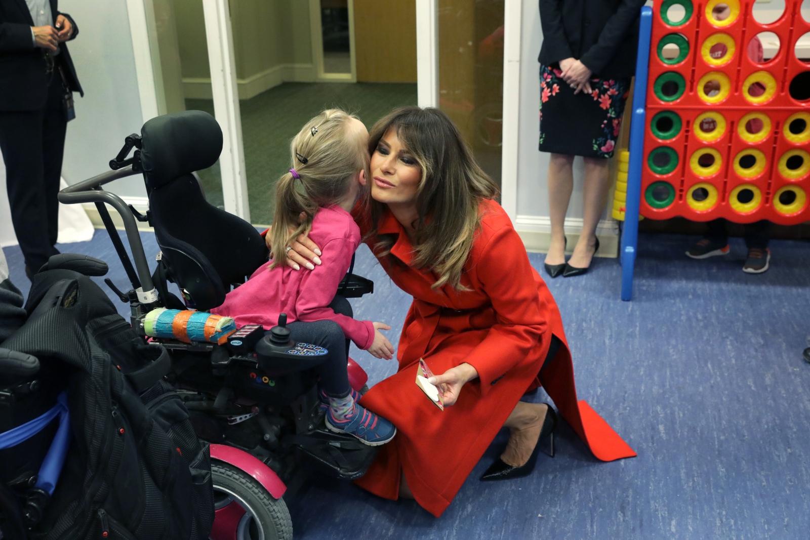 First Lady Melania Trump visited children at The Children's Inn