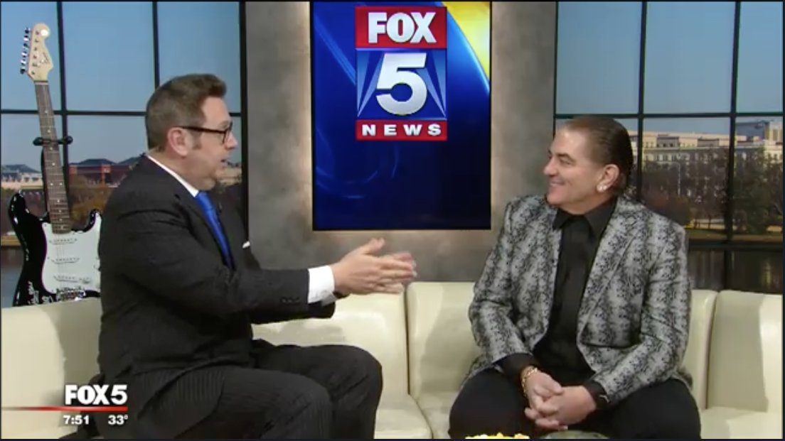 Tom Fitzgerald of Fox 5 interviews Jon Belinke of Rock and Roll for Children