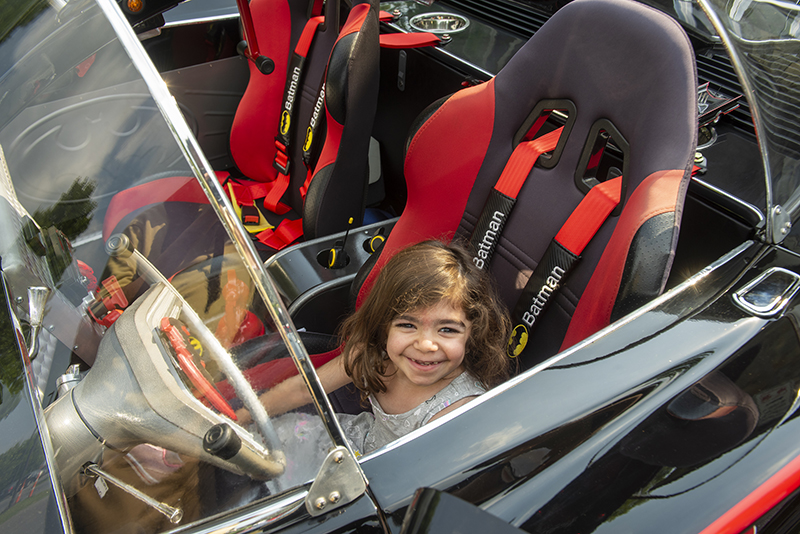 TCI Car Show - Maryam in Batmobile