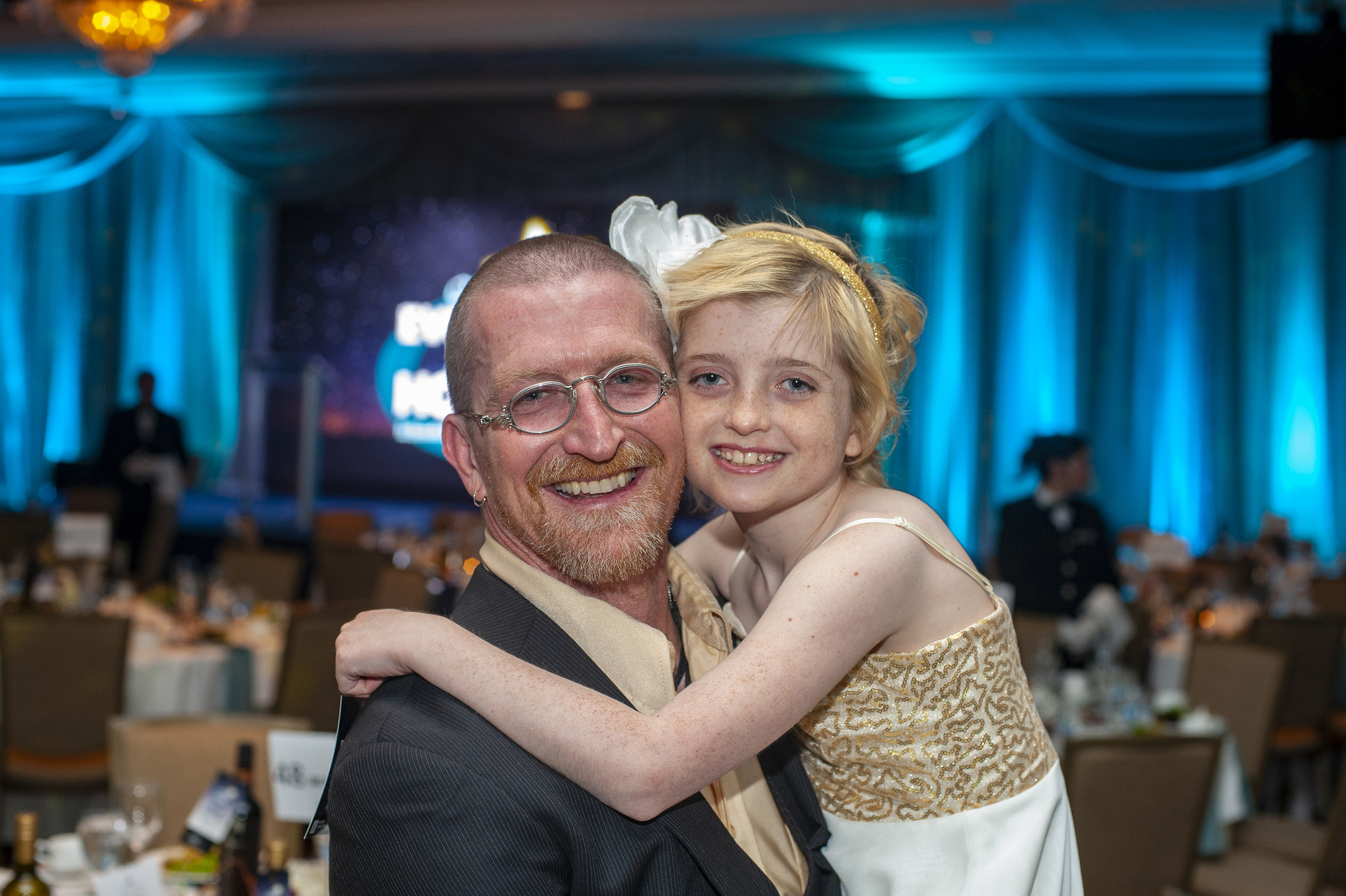 Farrah and her dad Andy Mackenzie at Hope