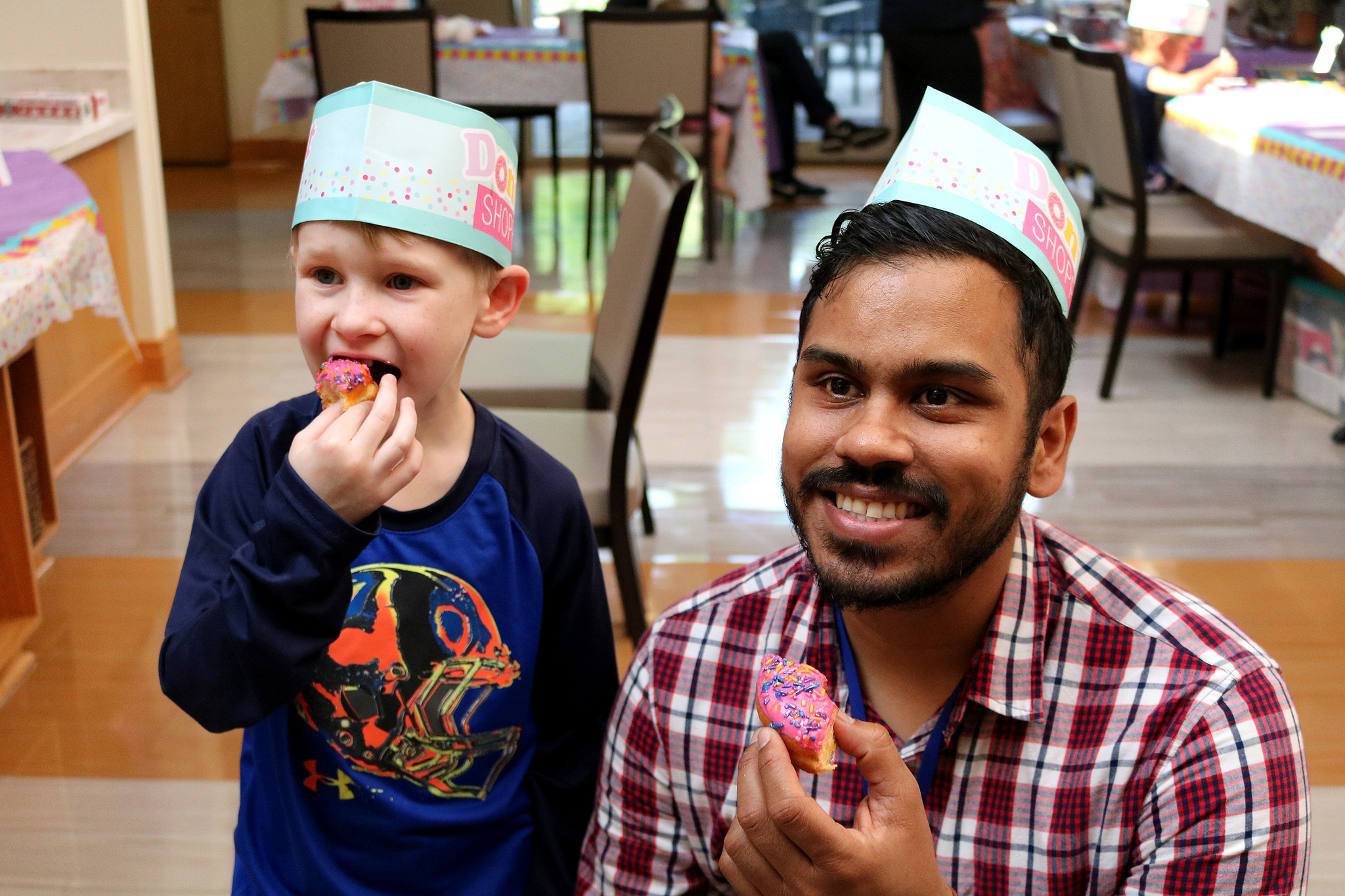 Javin and Abram at the donut party