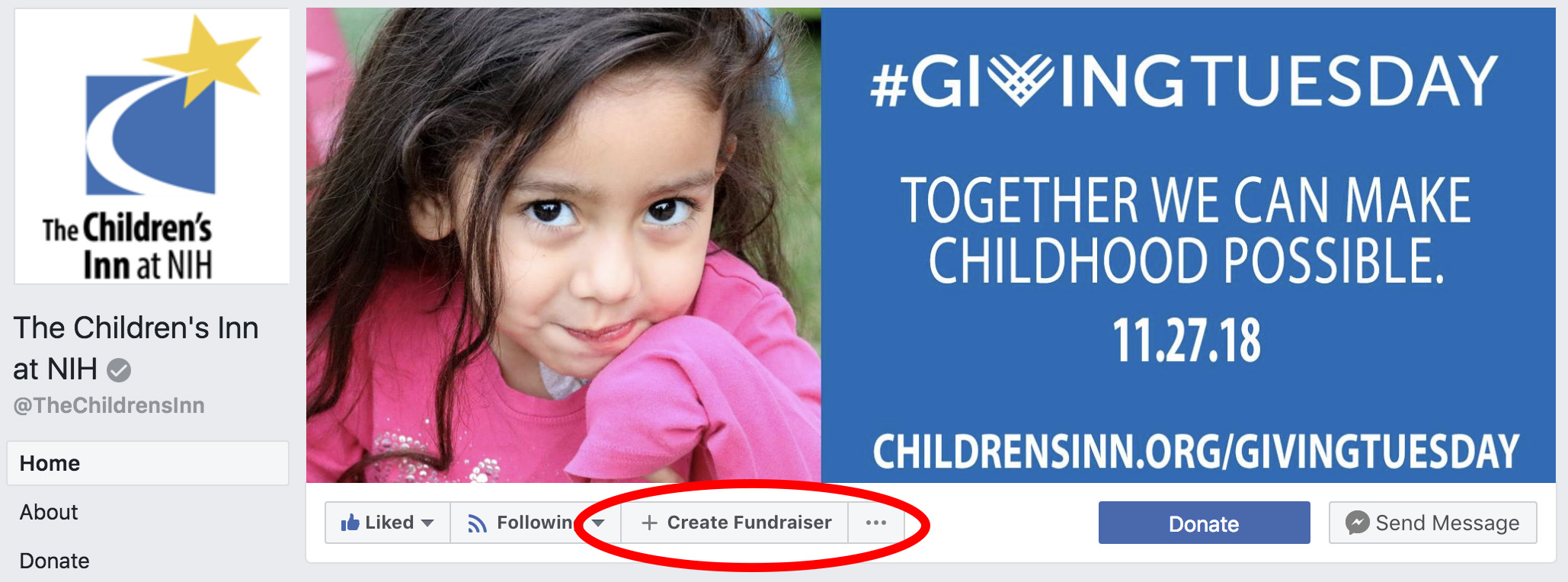 FB Fundraiser Step 1
