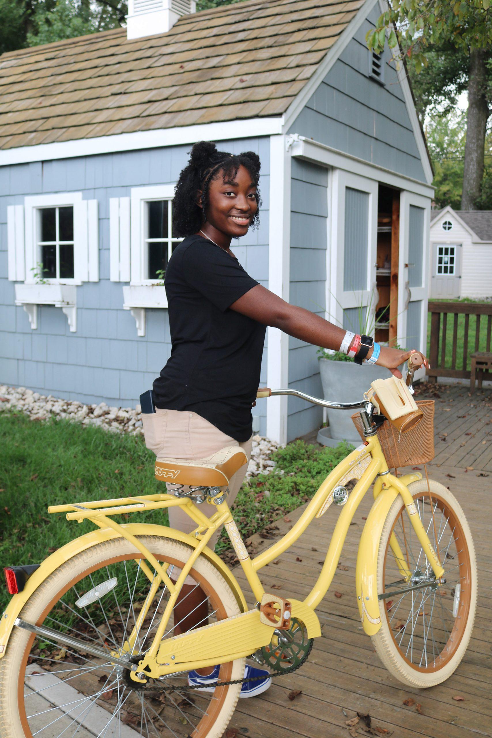Faith with a bike