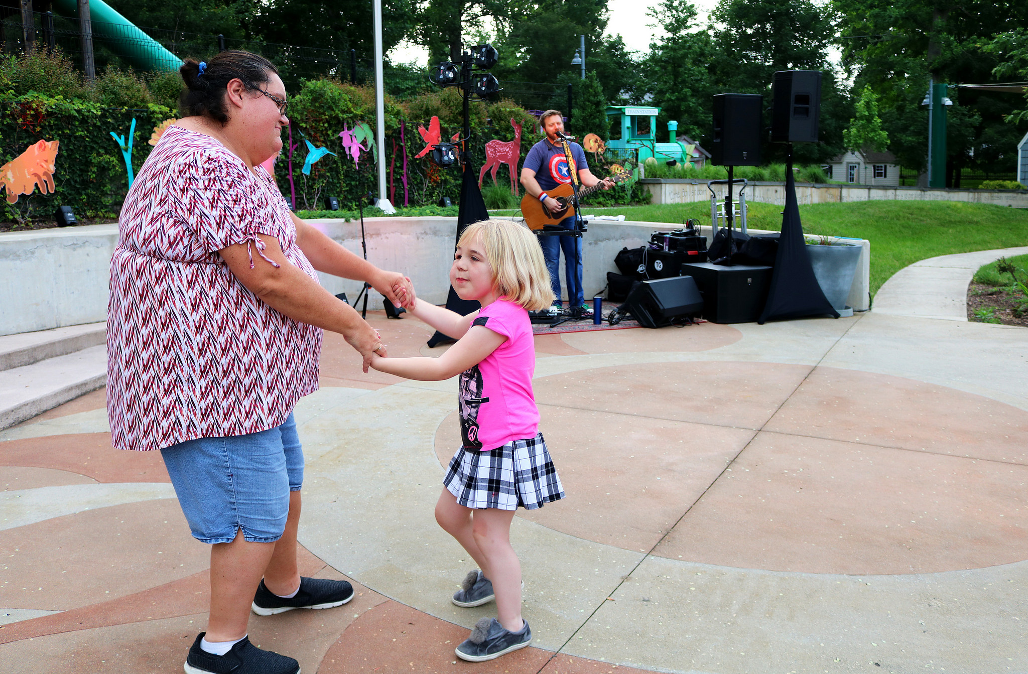 Paige and her mom Shelley enjoy our summer concert series