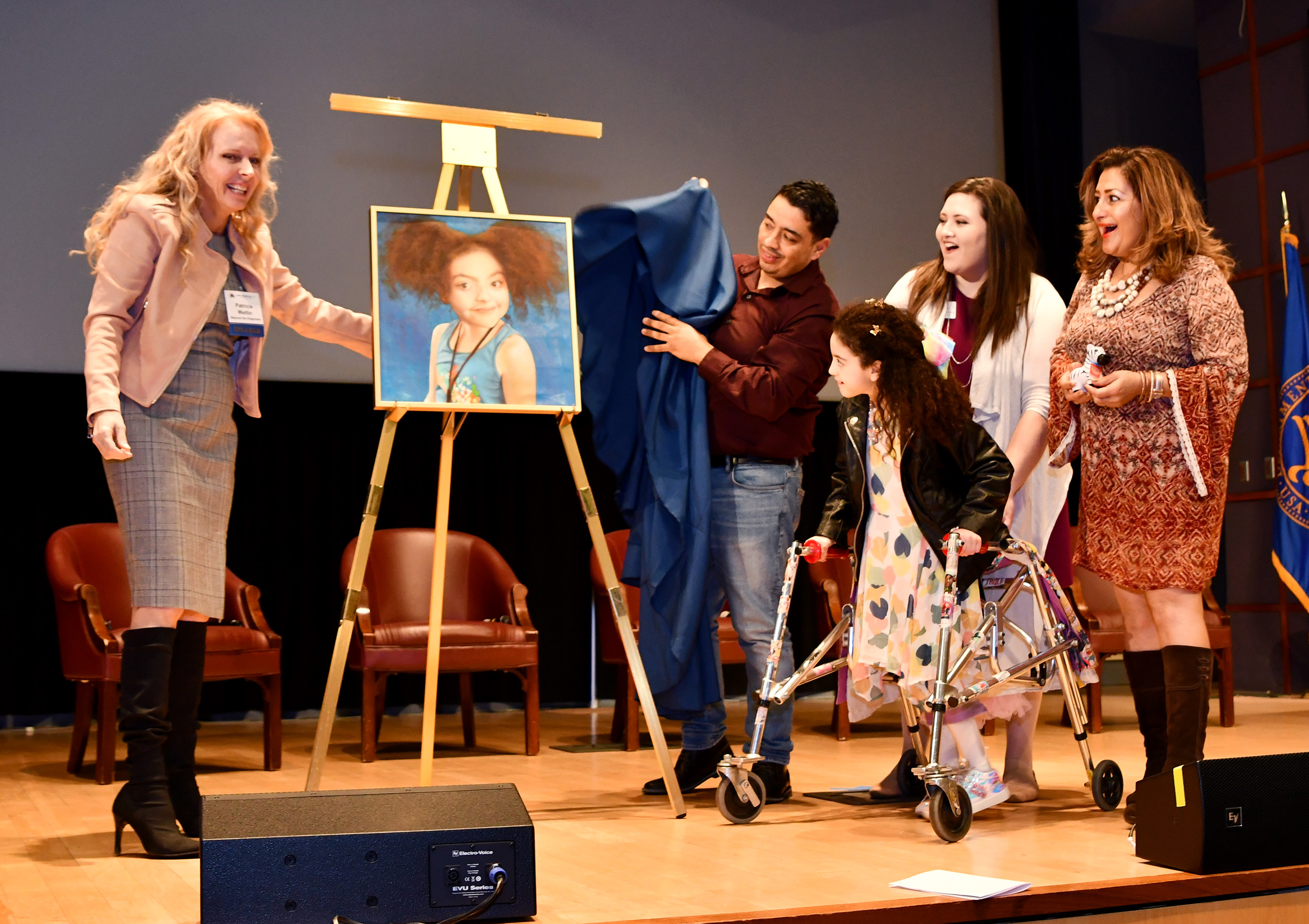 Amber's portrait is unveiled