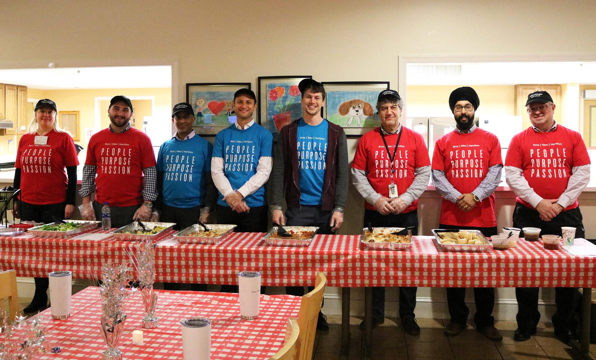 Booz Allen dinner volunteers