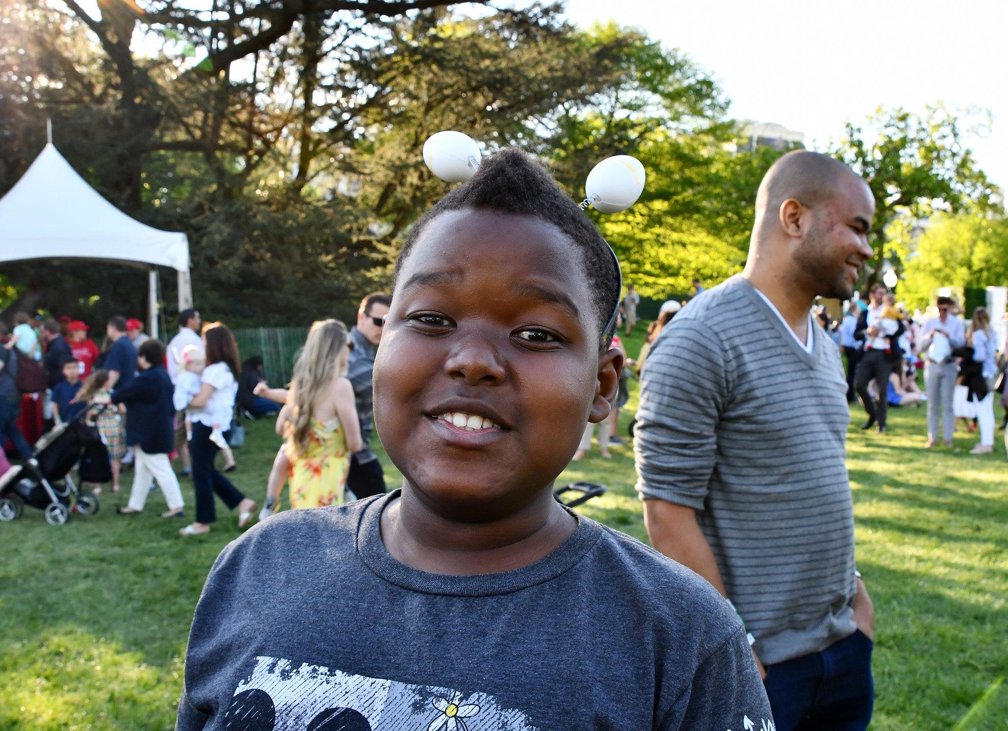 Inn resident Abel at the White House Easter Egg hunt