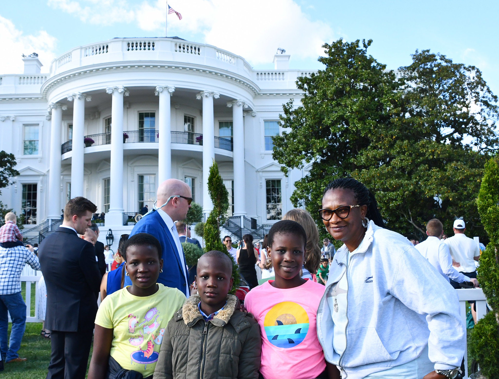 Inn residents at the White House for the annual Easter Egg Roll