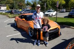 Isaac and Andrew at the car show