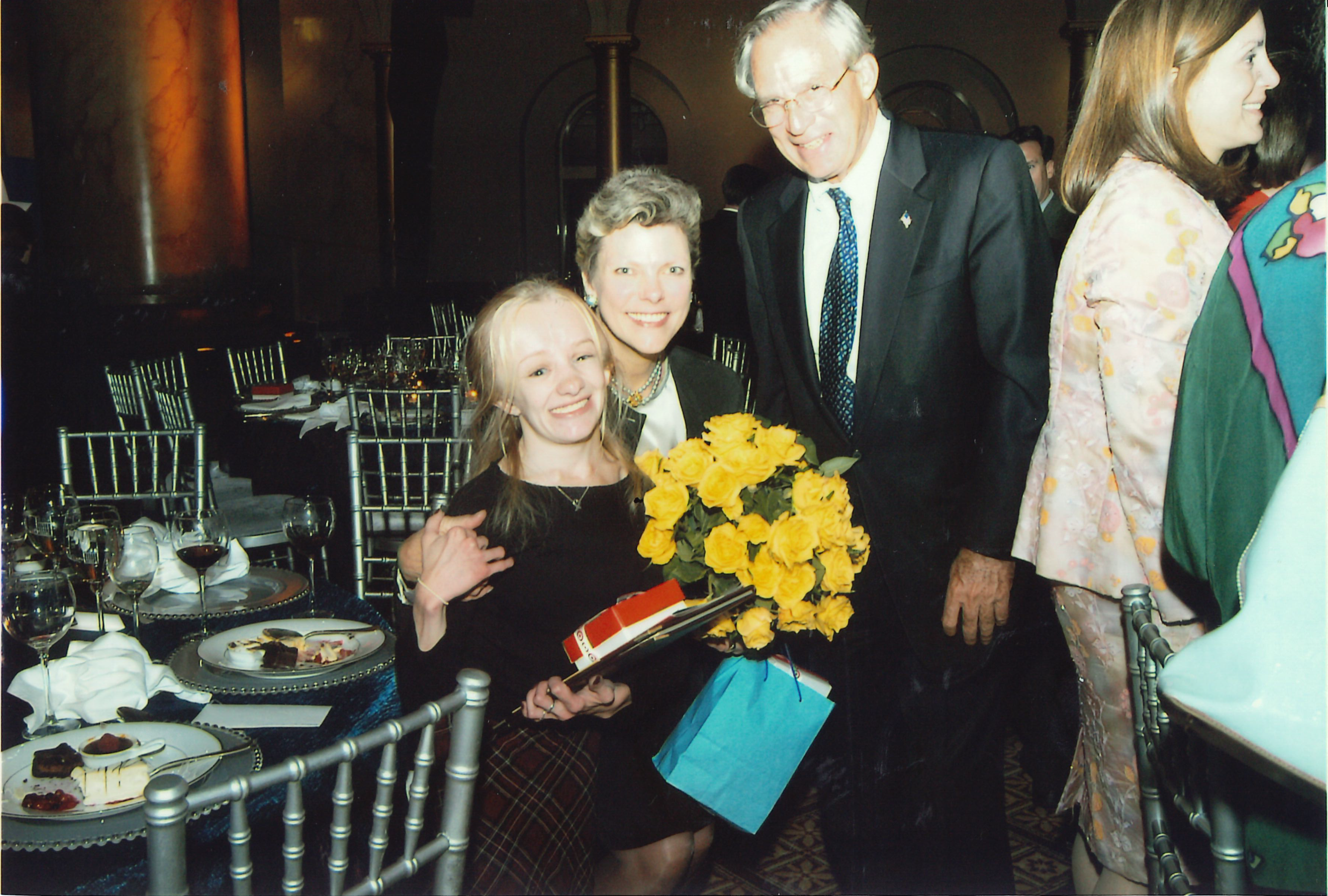 Inn board member Cokie Roberts with a resident at an Inn Gala