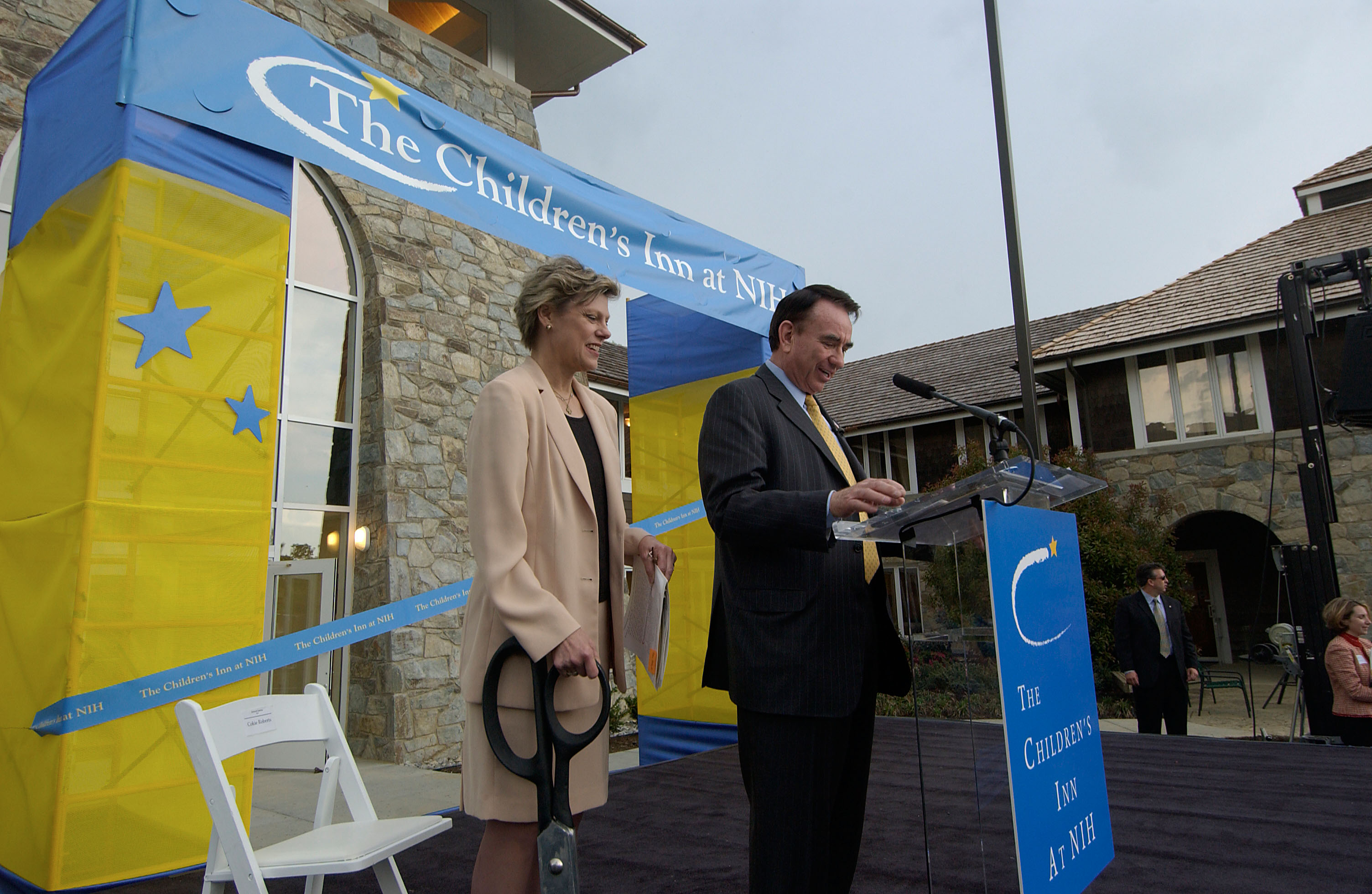Inn board member Cokie Roberts at the opening of the new wing at The Inn