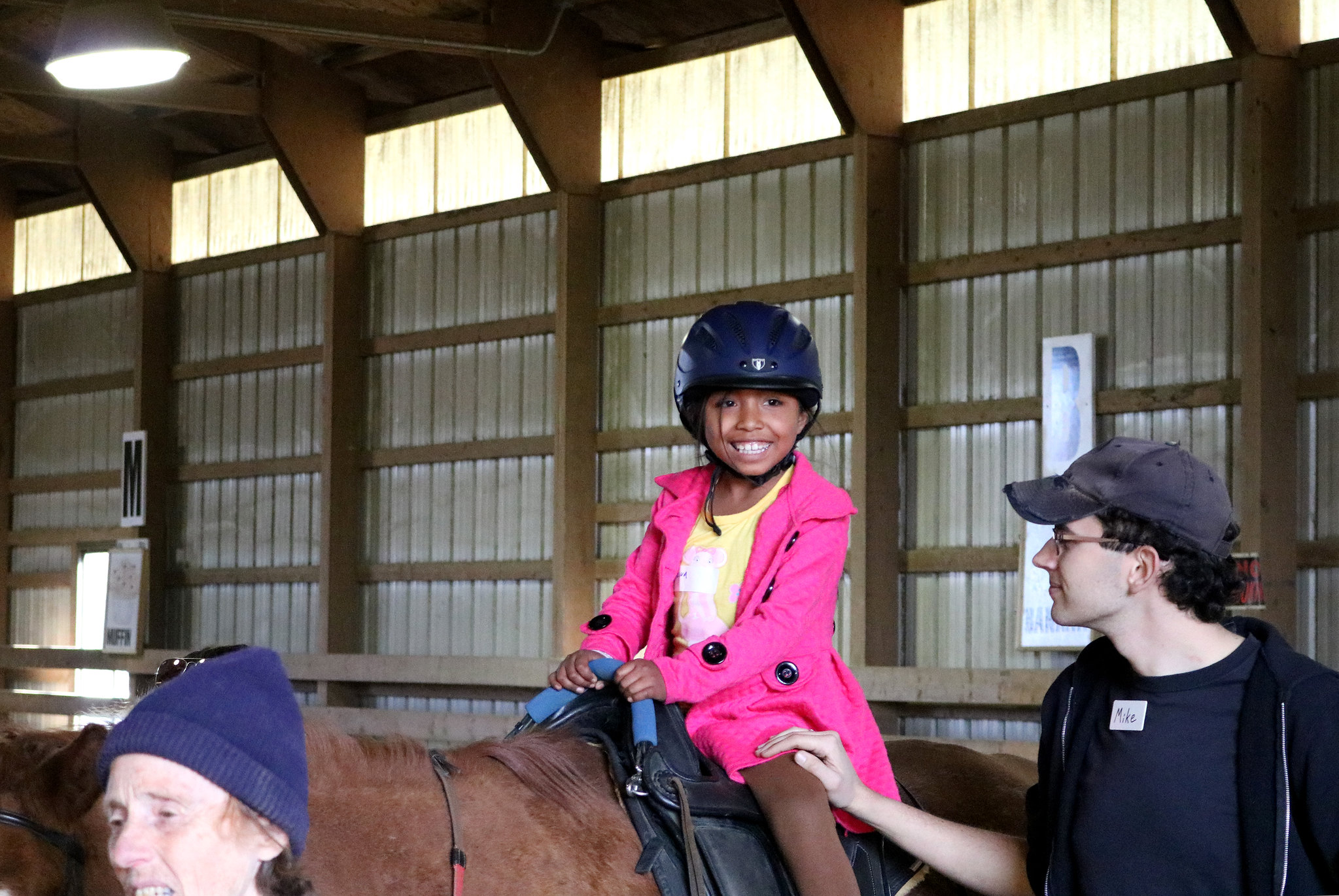 Inn resident Melva enjoys therapeutic horseback riding