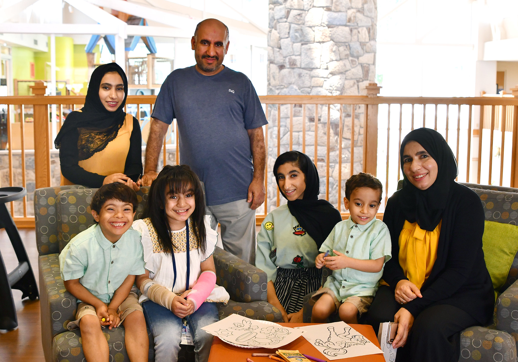 Muna pictured with her family