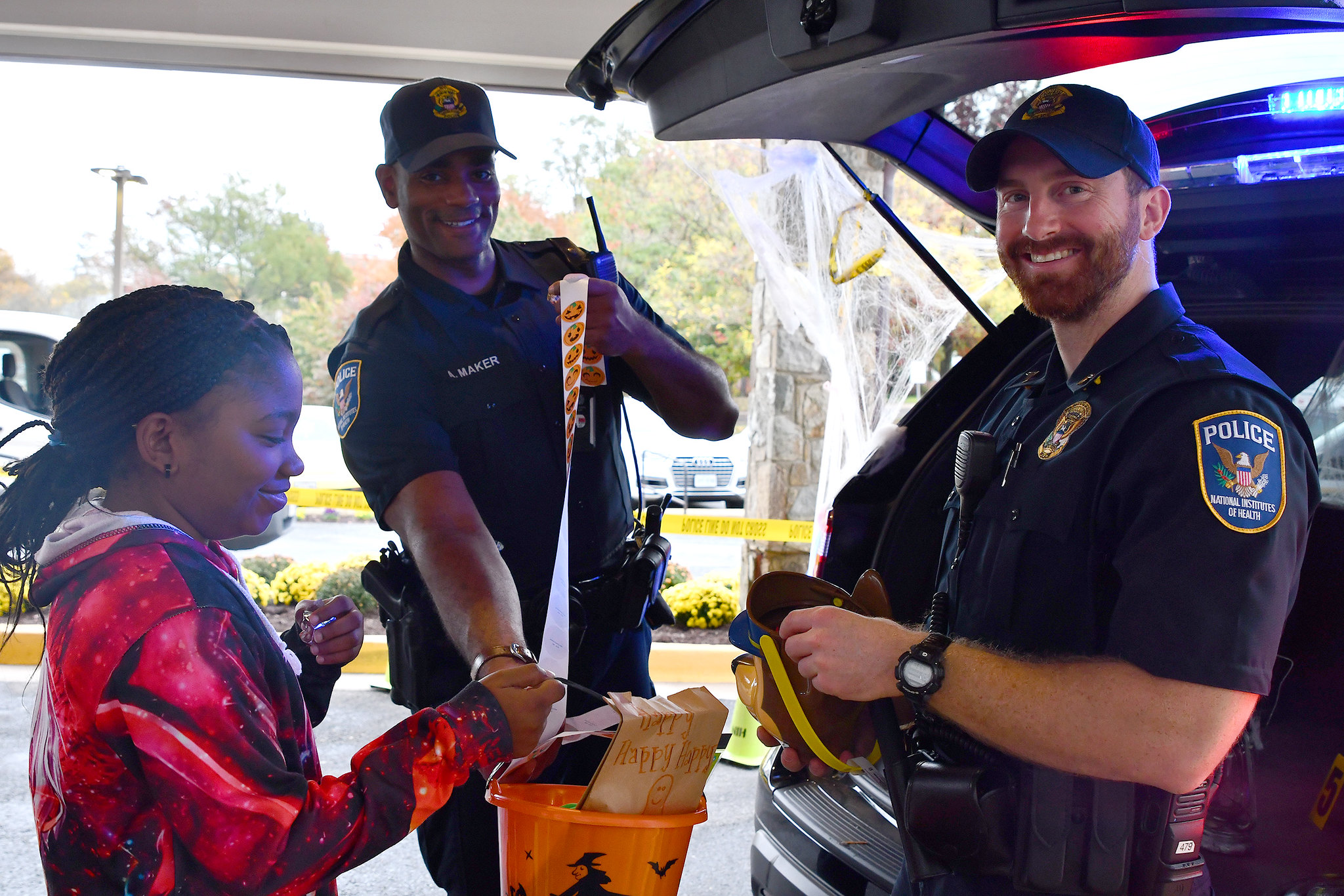 Trunk or Treat on Halloween with NIH Police