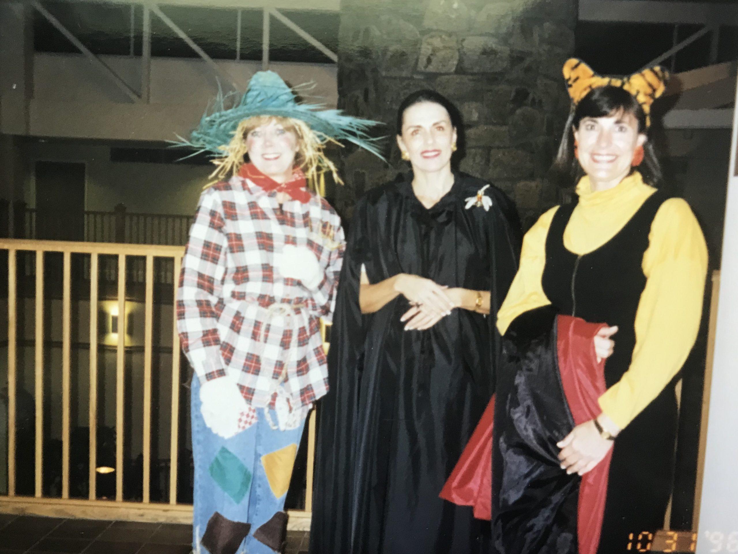 Inn volunteer Sharon Zeigler in a Halloween photo from 1995