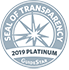GuideStar seal of transparency 2019 Platinun