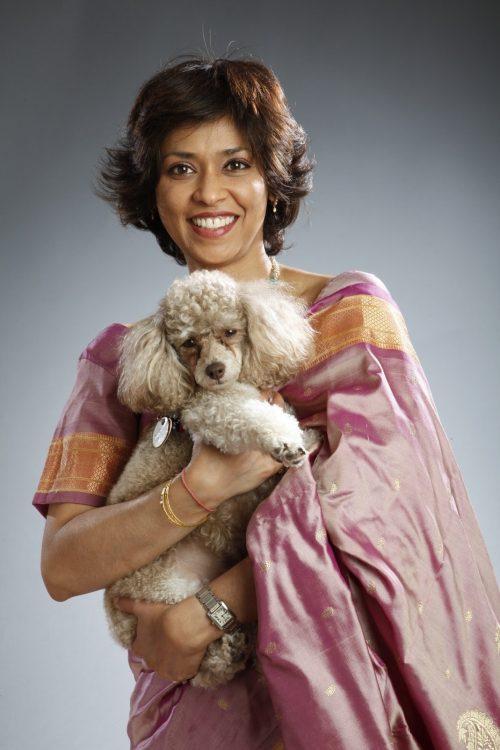 Prachee Devadas and her dog Yuna